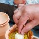 Putting Garlic Head