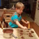Line several cookie sheets with parchment paper and drop dollops of your mixture onto the cookie sheets, evenly spaced.
