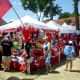 Many booths offering items for sale at the Polish Festival Houston