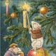 Follow the instructions above to make these free Christmas jigsaw puzzles