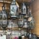 House décor such as this pretty antiqued zinc Latika hanging lantern