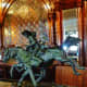 Bronze sculpture at the bar