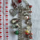 These are some of my Christmas charm bracelents.