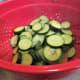 Drain the boiled vegetables