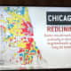 A map of redlining that was shown on the television news series where residents join together to fight segregation in Chicago.