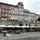 Eating places along Cais da Ribeira, Porto.