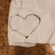 Draw a heart shape on your fabric.