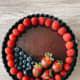 The chocolate tart.