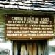 Pioneer cabin in Winterset, Iowa City Park