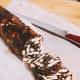 Kek batik (Malaysian triple chocolate dessert) made with Nutella