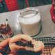 Italian-style donuts with Nutella filling (bombolini)