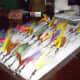 Various colorful salt water fishing lures
