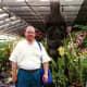 Photo of my husband at the Nani Mau Gardens