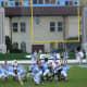 Connor Barth of the North Carolina Tar Heels kicks a field goal against the Maryland Terrapins, Kenan Stadium, Chapel Hill, NC.