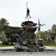 The Guanche sculpture at Parque Doramas.