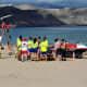 Lifeguard training on Playa de las Canteras.