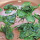 Saute the baby spinach leaves