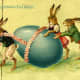 Big Egg for some little bunnies!  An old Russian Easter post card older than 1917.  Image #3
