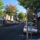 Part of Jackson Street, Roseburg, Oregon, U.S., in the Roseburg Downtown Historic District.