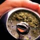 This is what Yerba Mate looks like when you're drinking it.