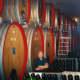 Large barrels of Slovenian Oak at Nino Negri Winery