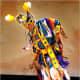 State Dept. photo by Ken White. Wylie Bearstail of the Hidatsa/Arikara tribes of North Dakota dances at the National Pow Wow.