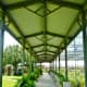 Covered walkway in the outdoor nursery area.