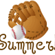 Free baseball and mitt art