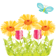 Free flowers and butterfly