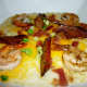 Shrimp and Grits in Ol' Railroad Cafe