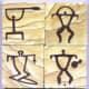 Hawaiian petroglyphs (rock carvings).