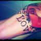Word tattoo.