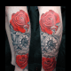 Roses and pocket watch tattoo