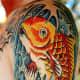 Koi Tattoo, Dennis Dwyer, Ancient Art Tattoo, Tucson, Arizona