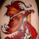 Red and Orange Fairy Tattoo