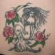 Floral mermaid tattoo idea