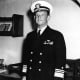 American Rear Admiral Frank Jack Fletcher, commander of U.S. Task Force 17 during the Battle of the Coral Sea.