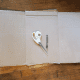 Lay out your cardboard. Size based on where you will hang your crescent moon.