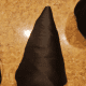 Cover your cone in fabric to make a hat for your gnome.