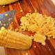 It's best to have a very sharp knife so you can cut the corn clean off the cob.