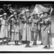 GIRL SCOUTS. TROOP #1. MRS. JULIETTE LOW, FOUNDER, RIGHT; ELENORE PUTSSKE, CENTER; EVALINE GLANCE, 2ND FROM RIGHT