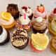 An assortment of gourmet cupcakes