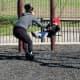 Having some swingset fun