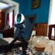 Webcam mounted to a mini-tripod