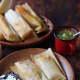 Homemade ground beef tamales