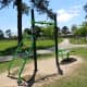 Exercise station in the park