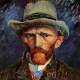 """Self-Portrait with Grey Felt Hat"" -1886-1887"