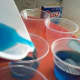 Fill desert cups 2/3 full with Berry Blue Jell-O.