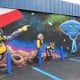 New mural for the Flying Saucer Pie Co.