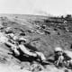 The Japanese forces on Iwo Jima would hold their fire until the beaches were crammed full of targets. Soon after the defenders opened up on the Marines on the beaches it became a killing field. The only way to survive was get off the beach.